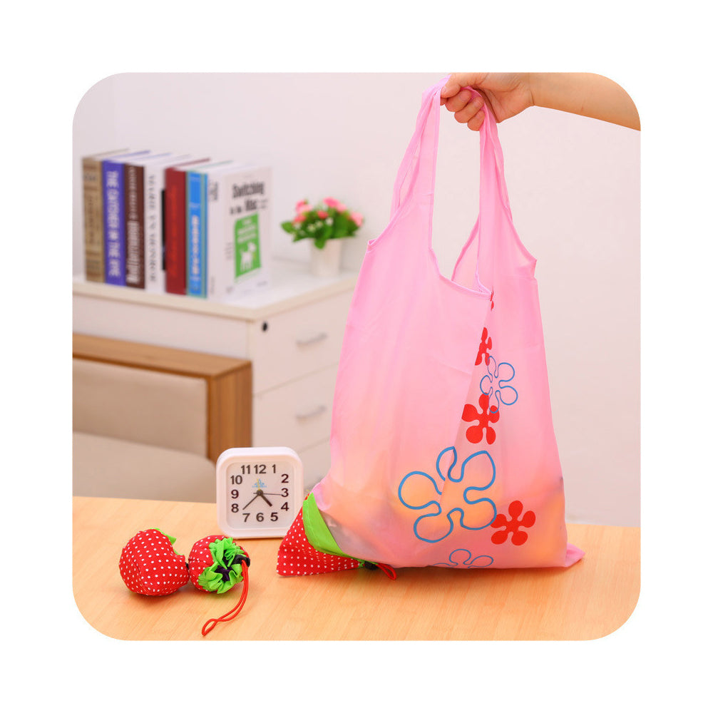 Cute Reusable Grocery Foldable Tote Bag - beleafgreen