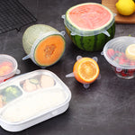 Silicone Stretch Lids, Set of 6 for Different Shape Containers, Fruits, and Vegetables