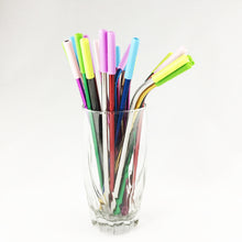 Load image into Gallery viewer, Colorful Reusable Stainless Steel Metal Straw Set