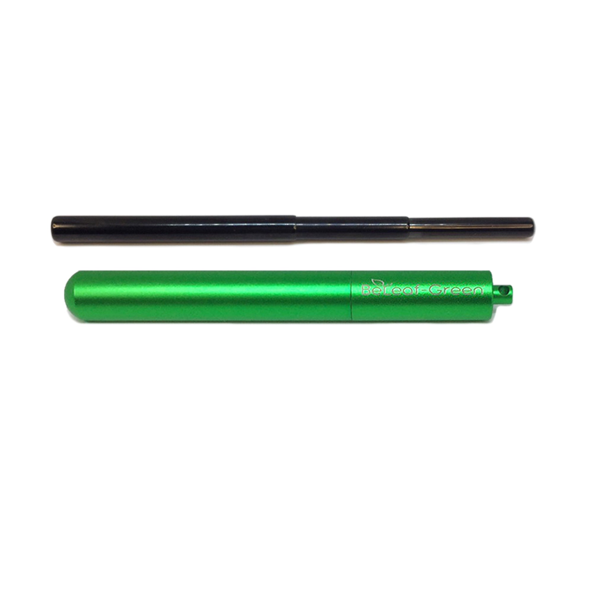 Best Reusable Telescopic Metal Straw Set with case, Green, Customized, Personalized with you Name BeLeaf-Green