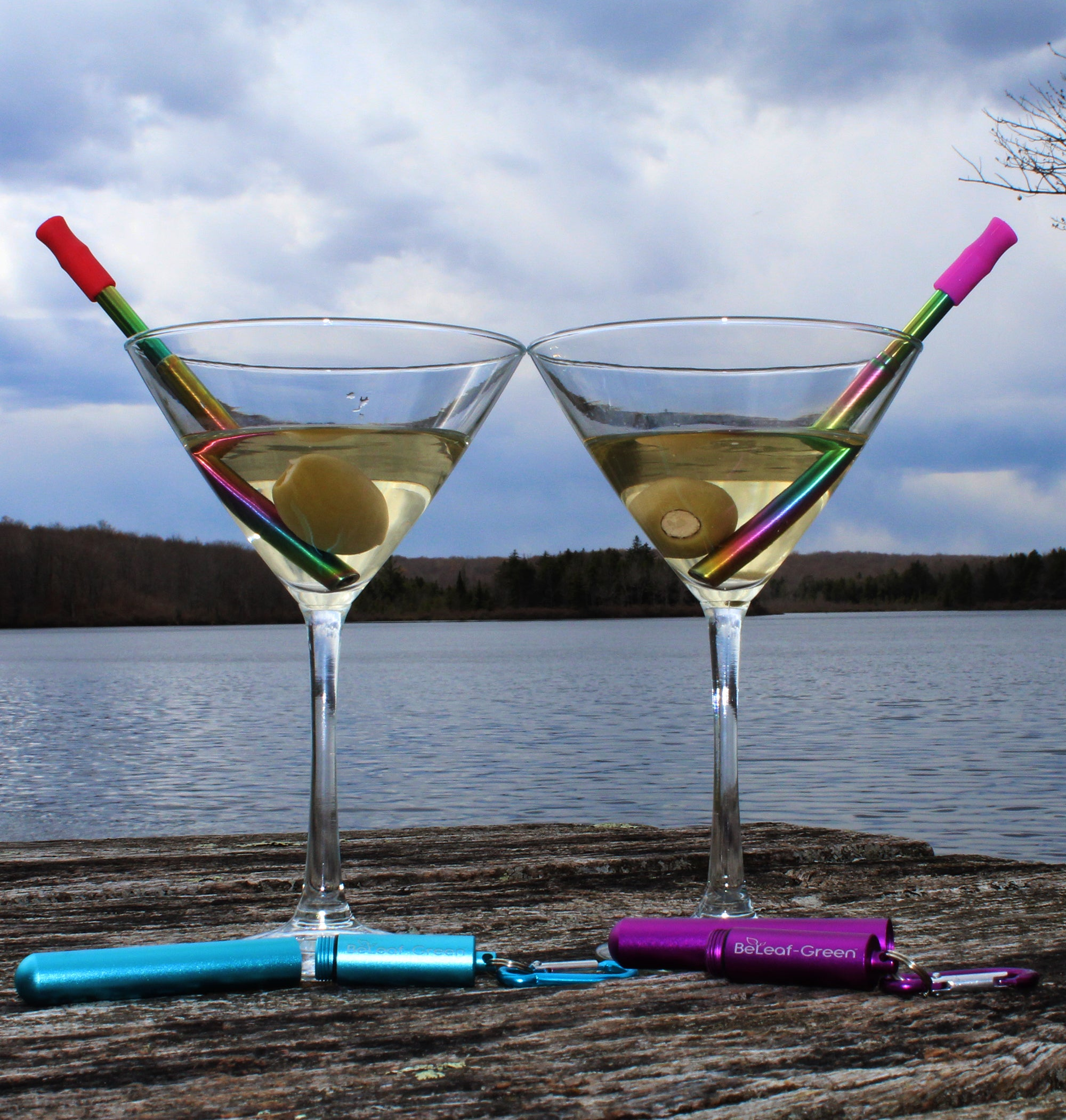 Personalized Reusable Metal Straw Case Set