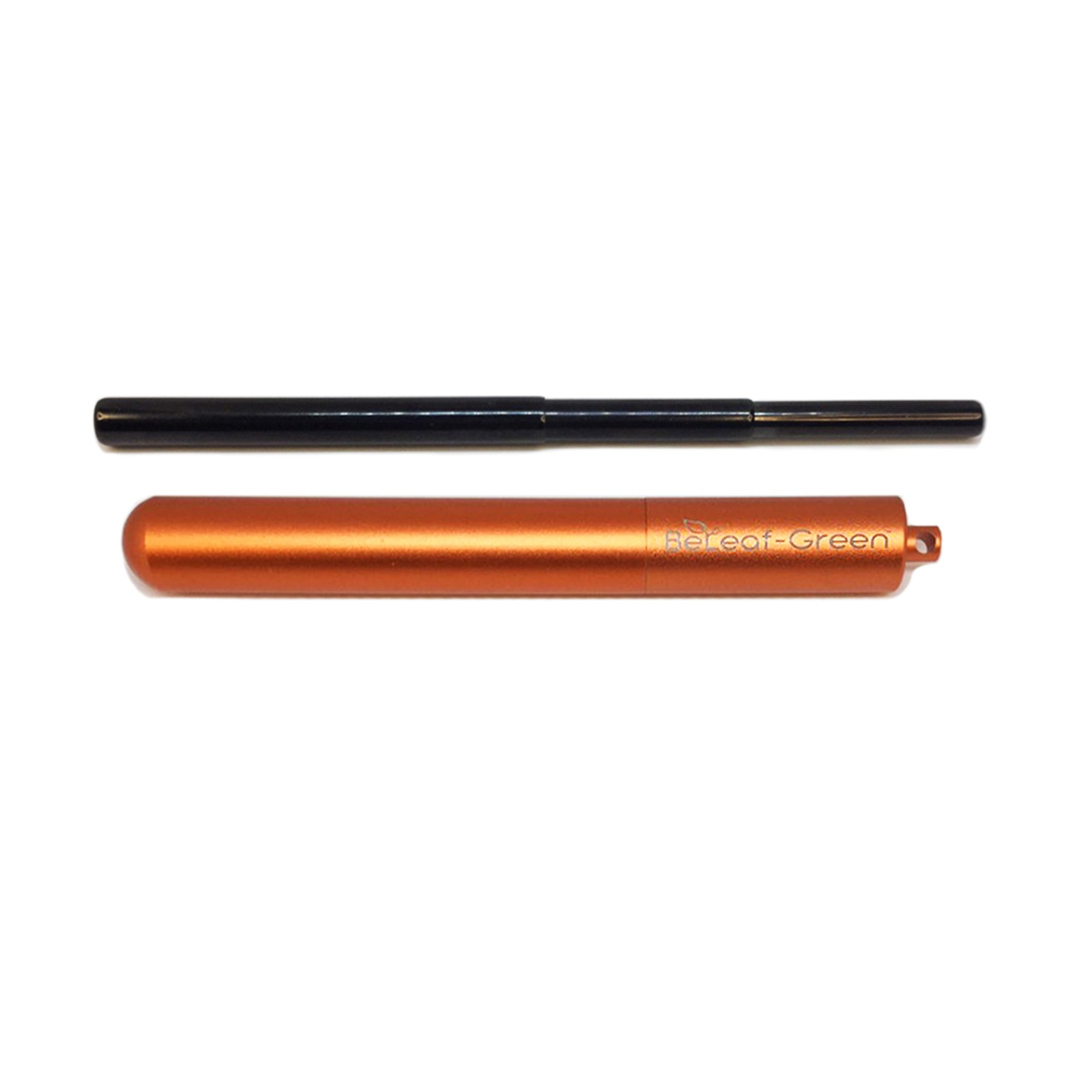 Best Reusable Telescopic Metal Straw Set with case, Orange, Customized, Personalized with you Name BeLeaf-Green