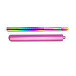 Best Reusable Telescopic Metal Straw Set with case, Pink, Customized, Personalized with you Name BeLeaf-Green