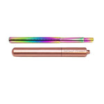 Best Reusable Telescopic Metal Straw Set with case, Rose Gold, Customized, Personalized with you Name BeLeaf-Green