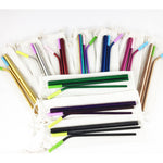 Find Your Color! Reusable Stainless Steel Metal Straw Set