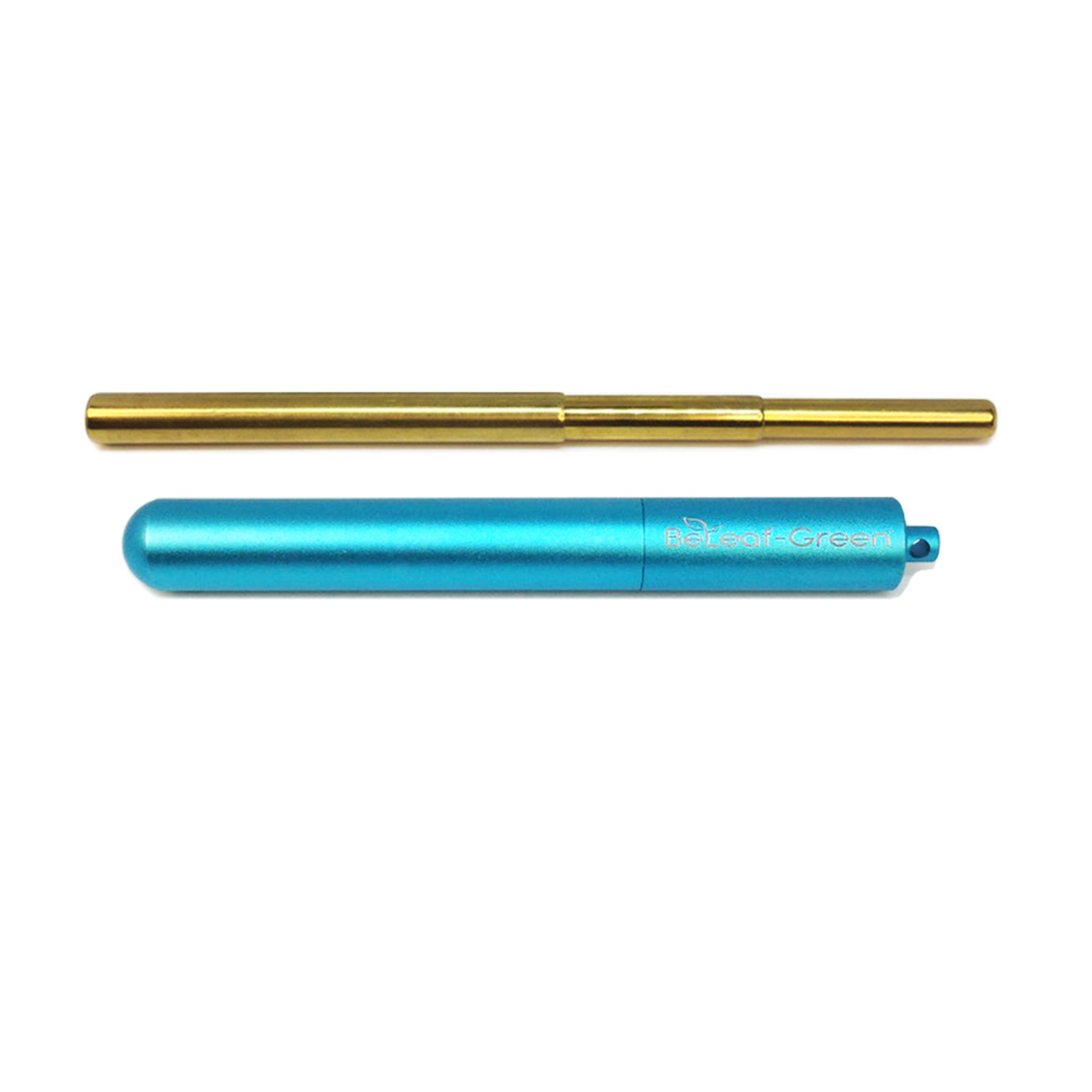 Best Reusable Telescopic Metal Straw Set with case, Seafoam, Light blue, Turquoise , Customized, Personalized with you Name BeLeaf-Green