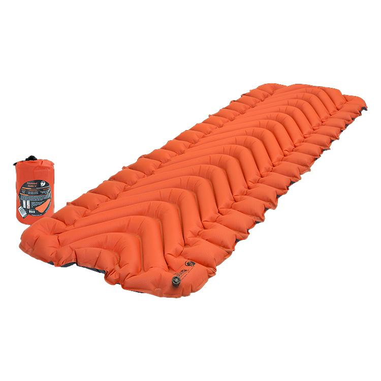 KLYMIT Insulated Static V Orange/Charcoal Ultra-Lite Regular Size Sleeping Pad