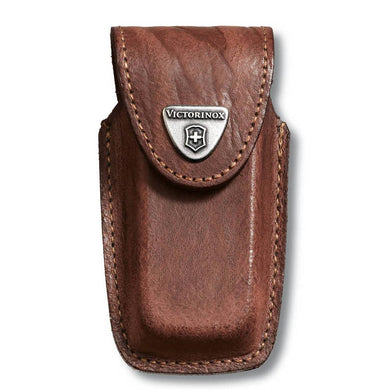 VICTORINOX BROWN LEATHER POUCH 91/93 MM 5-8 LAYERS