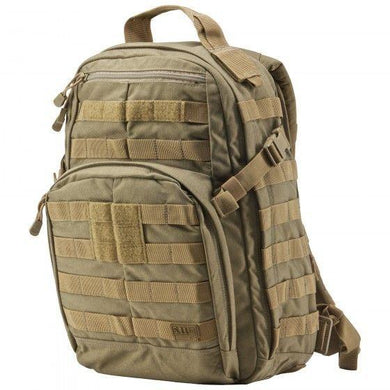 5.11 Rush 12HR Backpack Multipurpose Bag High Performance Pro Black/Sand/Camo - Hunter Valley Tactical