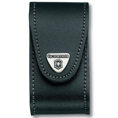 VICTORINOX BLACK LEATHER POUCH 91/93 MM 5-8 LAYERS