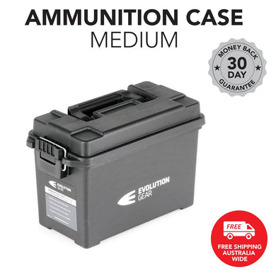 EVOLUTION GEAR Medium Ammunition Case Weatherproof Ammo Box / Dry Box