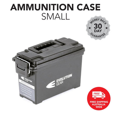 EVOLUTION GEAR Small Ammunition Box Weatherproof Ammo Case / Dry Box