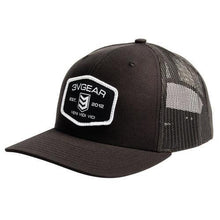 Load image into Gallery viewer, 3VGEAR Woven Patch Mesh Trucker Hat Black/Camo/Grey/Red - Hunter Valley Tactical