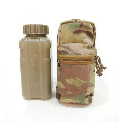 VALHALLA Accessory 1L Flask Pouch with Pocket MOLLE Tactical Military Grade