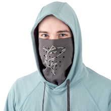 Load image into Gallery viewer, DESOLVE FISH FACE HOODIE AZURE BLUE