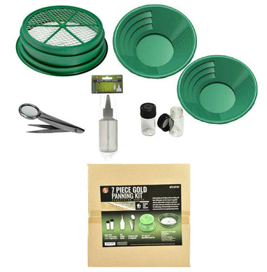 BKJ IMPORTS 7 Piece Gold Panning Set GP5-KIT107