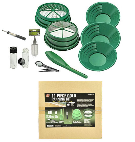 BKJ IMPORT 11 Piece Gold Panning Set GP5-KIT111