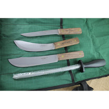 Load image into Gallery viewer, Ontario Knife Co. Old Hickory 5pc Butcher Kit Knife Set Wood Handle + Roll