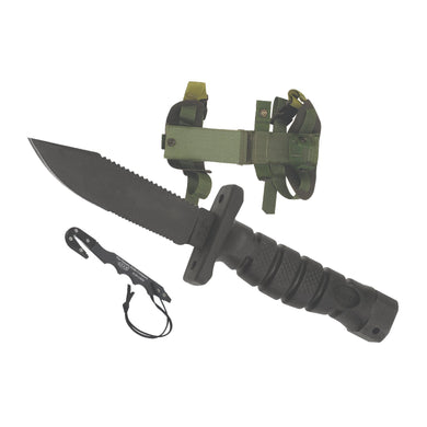 Ontario Knife Co. 1400 ASEK Survival Knife System Kraton Handle + Nylon Sheath - Hunter Valley Tactical
