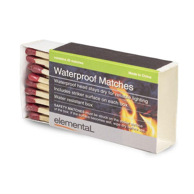 Elemental Waterproof Matches 45x4 Water Resistant Boxes GMA1780