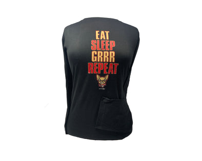 "Bimm Ridder Women's El Paso Chihuahuas ""Eat Sleep GRRR Repeat"" Long Sleeve Tee"