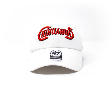 '47 Brand Adjustable El Paso Chihuahuas White Wordmark Cap