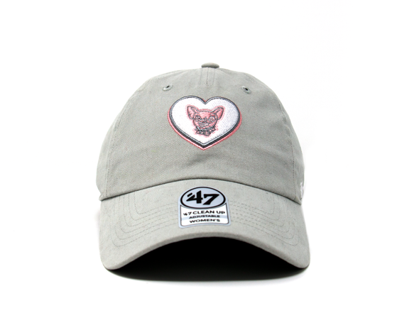 '47 Brand Women's Adjustable El Paso Chihuahuas Gray Clean Up Cap