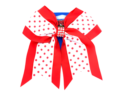 El Paso Chihuahuas Red and White Polka Dot Hair Bow