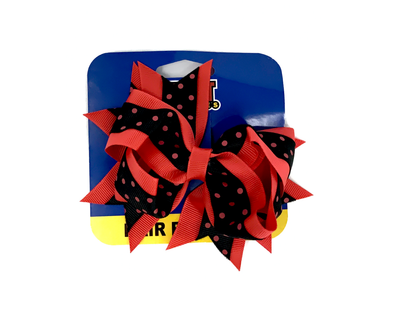 El Paso Chihuahuas Black and Red Polka Dot Hair Bow
