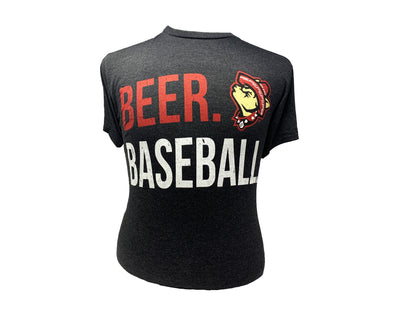 108 Stitches Men's El Paso Chihuahuas Howling Dog Beer and Baseball Tee