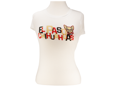 108 Stitches Women's El Paso Chihuahuas Stacked Tee