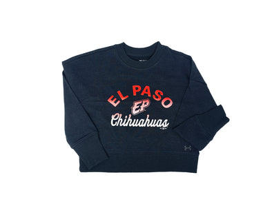 UA Girls El Paso Chihuahuas Black Gradient Crewneck