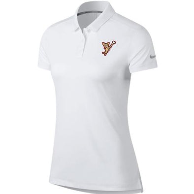 El Paso Chihuahuas NIKE- WMN WHITE SWINGING DOG POLO