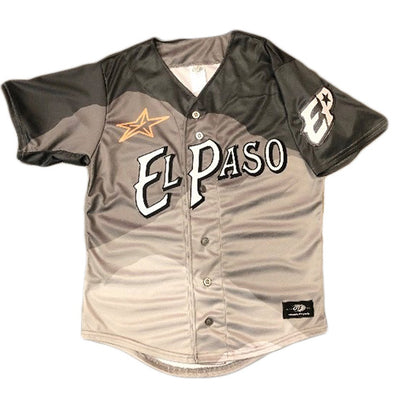 OT Sports Youth El Paso Chihuahuas Replica Road Gray Mountain Jersey