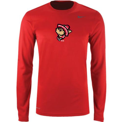 El Paso Chihuahuas NIKE- YOUTH RED LEGEND HOWLING DOG L/S