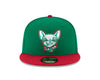 New Era 5950 El Paso Chihuahuas Green and Red Dog Head Cap
