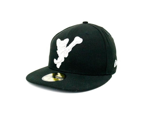 New Era 5950 El Paso Chihuahuas Silver Swinging Dog Black Cap