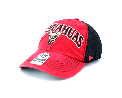 '47 Brand Adjustable El Paso Chihuahuas Red Tuscaloosa Clean Up Cap