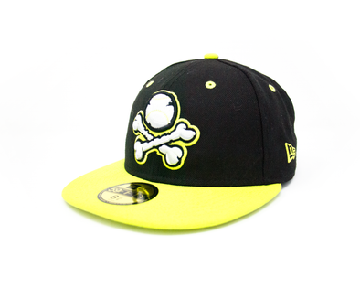 New Era 5950 El Paso Chihuahuas Crossbones Neon Green