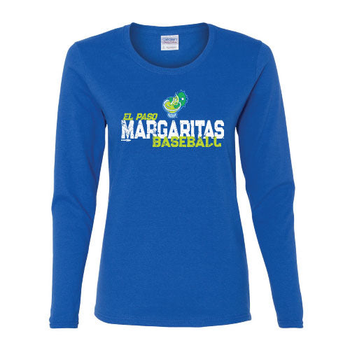 Ladies Margaritas Royal Blue L/S