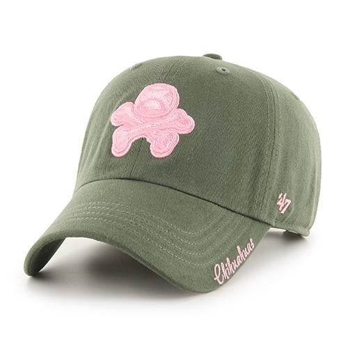 '47 Brand Adjustable El Paso Chihuahuas Green And Pink Crossbones Cap