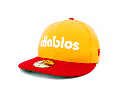 New Era 5950 Diablos Two Tone Gold/Red Fitted Cap