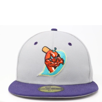 New Era 5950 El Paso Chihuahuas Gray and Purple Diablos Pepper Logo