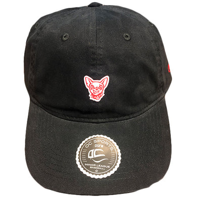 OC Sports Adjustable El Paso Chihuahuas Black Dog Head Cap