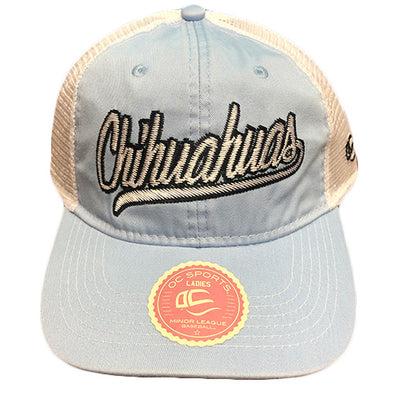 OC Sports Women's Adjustable El Paso Chihuahuas Sky Blue Mesh Cap