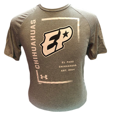UA Men's El Paso Chihuahuas Gray Tech Tee