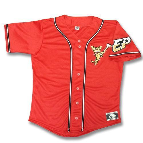OT Sports Adult El Paso Chihuahuas Replica Red Alternate Jersey