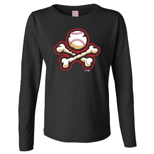 Bimm Ridder Women's El Paso Chihuahuas Black Long Sleeve Crossbones Tee