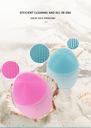 Silicon Electric Face Cleanser Massager