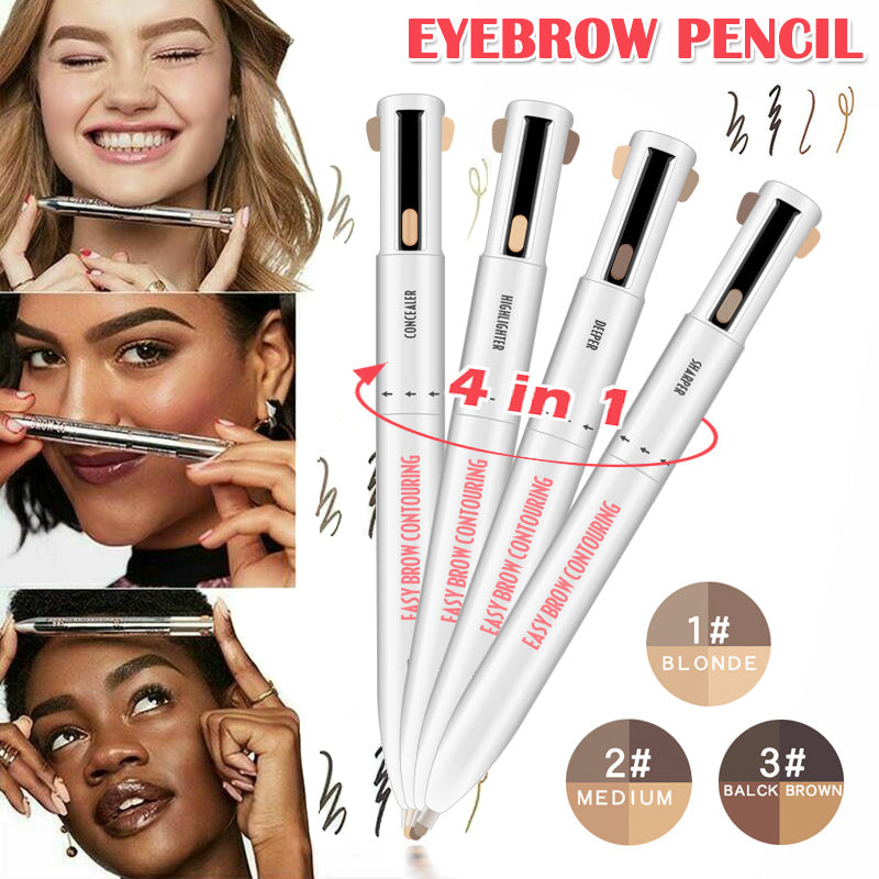 Hot 4-in-1 Waterproof Eyebrow Contour Pen